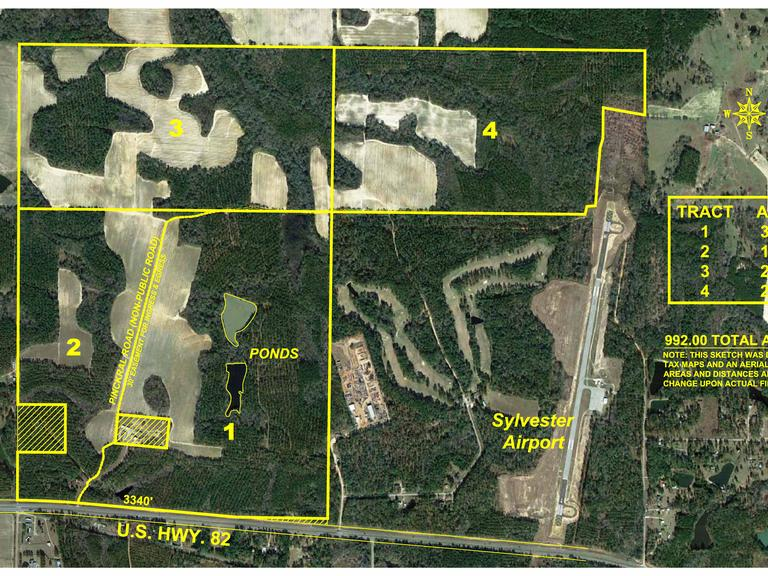 992+/- Acres Located in Worth County, Georgia