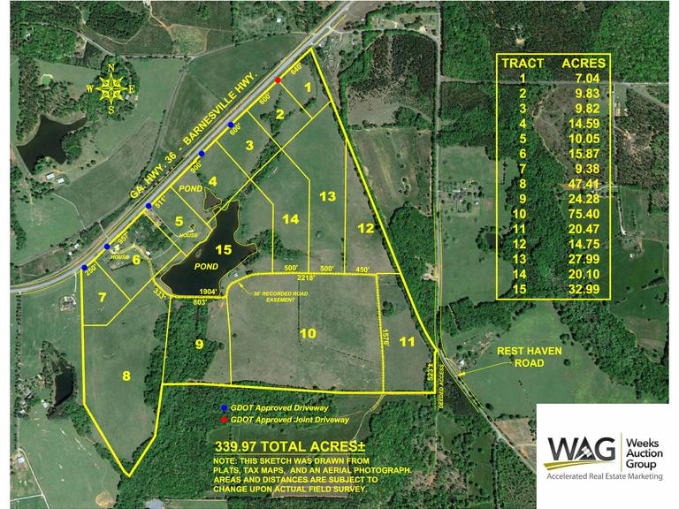 340 +/- Acre Farm, Located in Upson County, Georgia