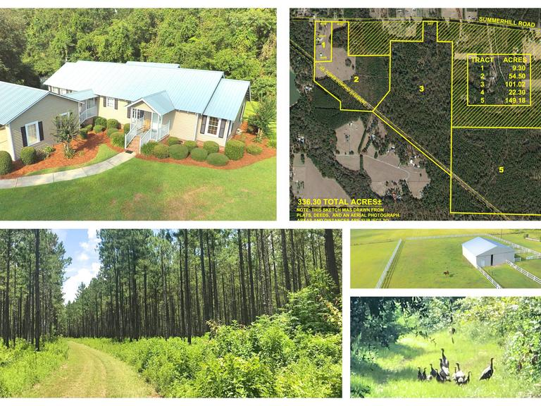 336+/- Acre Plantation Tract and Home Located in Thomas County