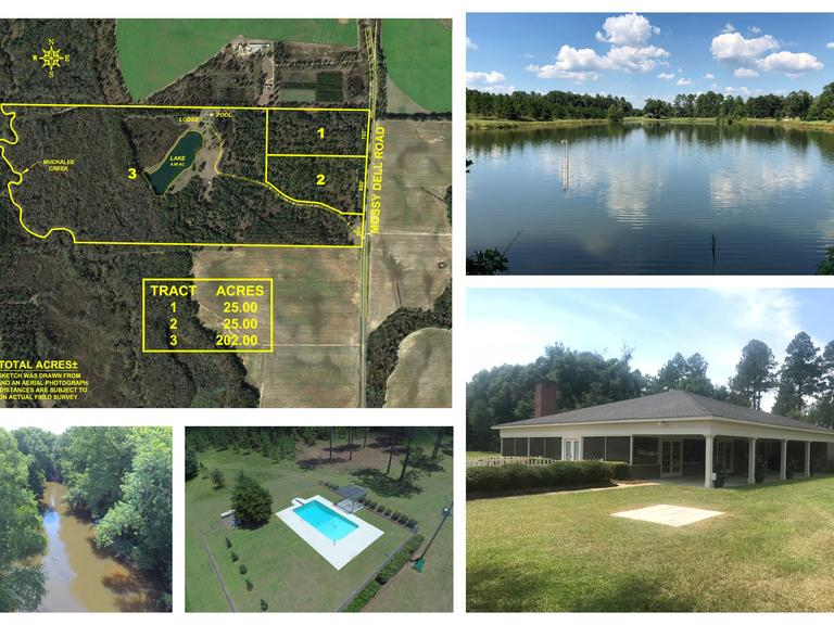 **Selling Absolute!! 252+/- Acre Plantation Tract and Lodge Located in Lee County