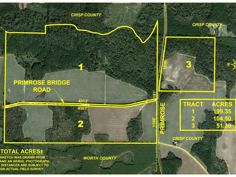 The Primrose Farm - 356 +/- Acres Worth and Crisp County