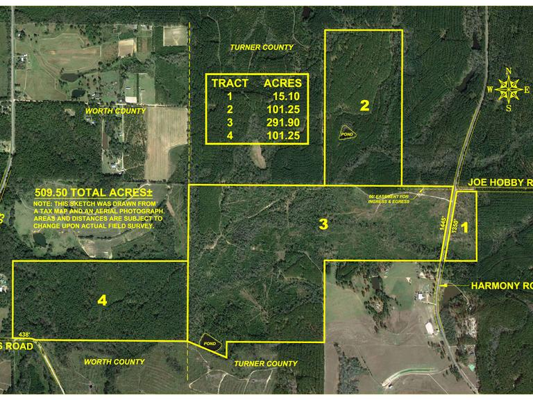 The Tom Judge Farm - 509.50 +/- Acres, Turner and Worth County
