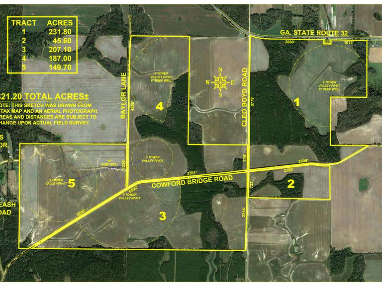 The Moree Farm - 821 +/- Acres Located in Worth County